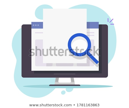 online · elektronische · document · computer · display · vector - stockfoto © kyryloff