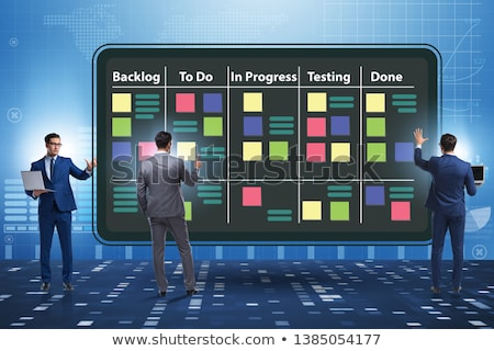 Businessman in agile methods concept Stock photo © Elnur