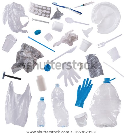 Geïsoleerd plastic vuilnis ontwerp achtergrond kunst Stockfoto © bluering