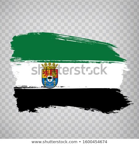 Extremadura flag Stock photo © grafvision