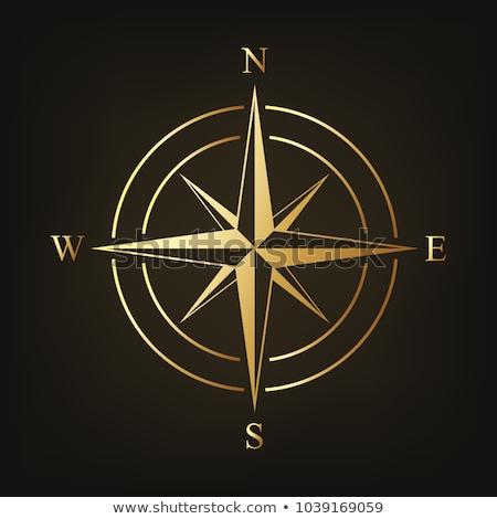 golden compass dark background stock photo © limbi007
