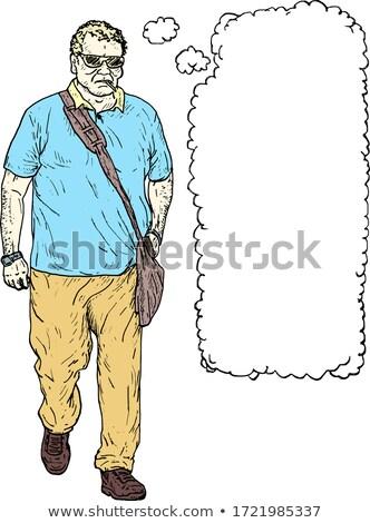 Férfi szöveglufi kéz közelkép fiatal kaukázusi Stock fotó © nito