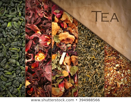 Set of herbal and fruit dry teas Stock photo © karandaev