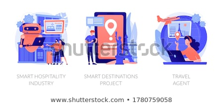 Smart destinazioni progetto GPS mobile app Foto d'archivio © RAStudio