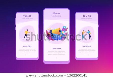 App interface modèle marketing spécialiste haut-parleur Photo stock © RAStudio