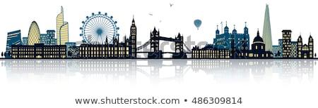 Londen · skyline · blauwe · hemel · stad · horizon · lijn - stockfoto © liolle