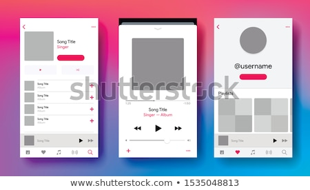 Stock photo: music player