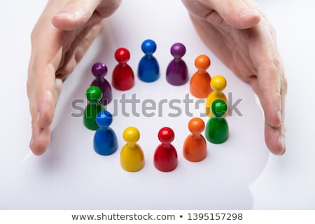 Colorful Pawns Making A Circle Stock photo © AndreyPopov