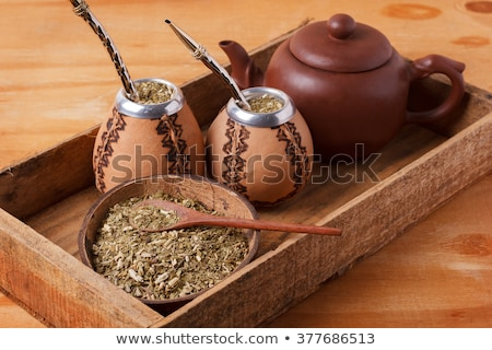 Yerba mate in a traditional calabash gourd Stock photo © grafvision