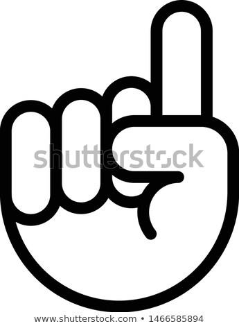 Parmak işaret yukarı ikon fikir imzalamak Stok fotoğraf © Winner