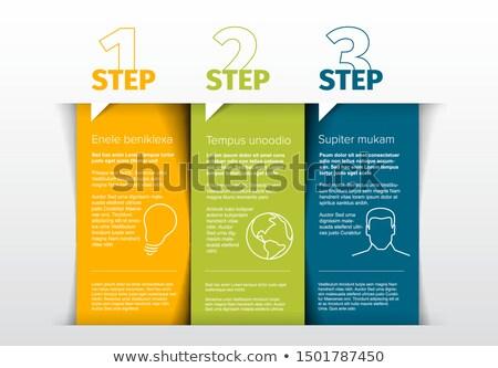 Vector tabel drie stappen sjabloon blokken Stockfoto © orson