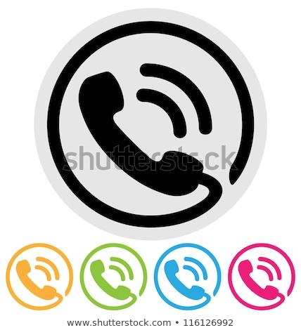green phone icon stock photo © kbuntu