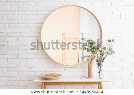 verde · parede · janela · interior - foto stock © jsnover