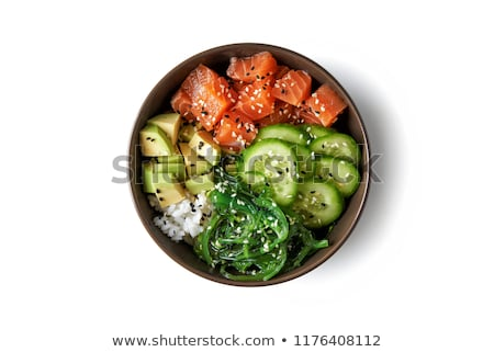 Hawaiian poke bowl with salmon Stock photo © furmanphoto