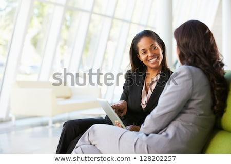 бизнес-команды два коллеги рабочих компьютер цифровой Сток-фото © Freedomz