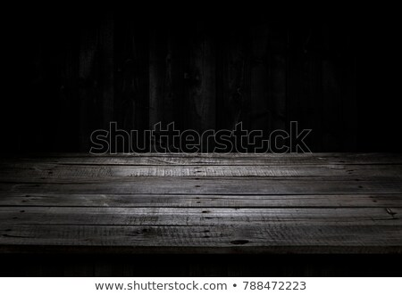 Lege oude zwarte houten tafel Blur abstract Stockfoto © Freedomz