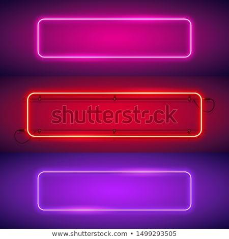 Drie rechthoekig neon frames ingesteld snel Stockfoto © Voysla