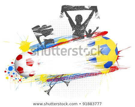 soccer football fans attribute scarf illustration Stock photo © konturvid