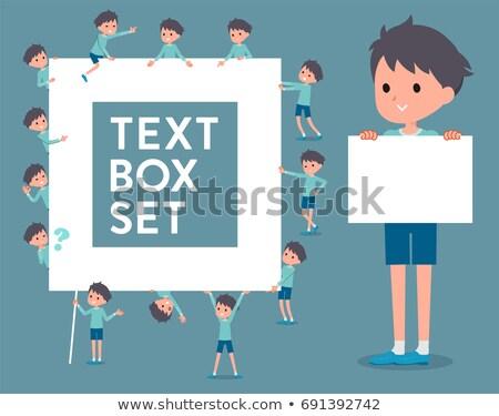 Typu niebieski odzież polu zestaw chłopca Zdjęcia stock © toyotoyo