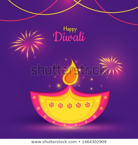 happy diwali wishes card in ethnic style stock photo © sarts