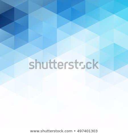 Soyut mavi üçgen mozaik ızgara dizayn Stok fotoğraf © SArts