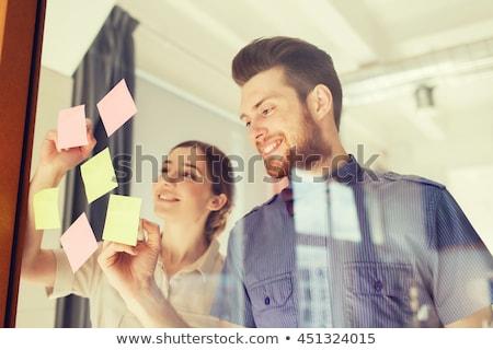 squadra · di · affari · riunione · ufficio · uomini · d'affari · tecnologia · pianificazione - foto d'archivio © dolgachov