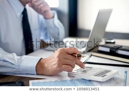 Działalności finansowanie rachunkowości bankowego biznesmen Zdjęcia stock © Freedomz