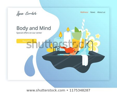 Wellness And Spa Hotel Landing Page Template Foto d'archivio © curiosity