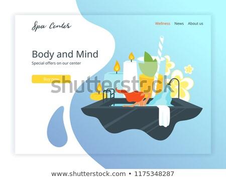 Wellness and spa hotel landing page template Stock photo © RAStudio