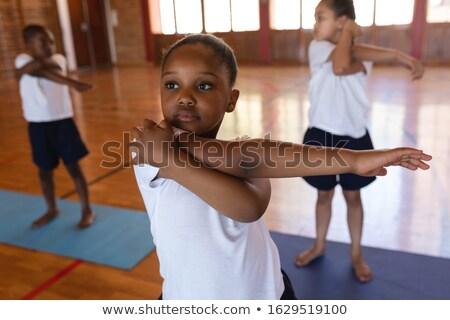 Görmek öğrenci yoga yoga mat okul Stok fotoğraf © wavebreak_media