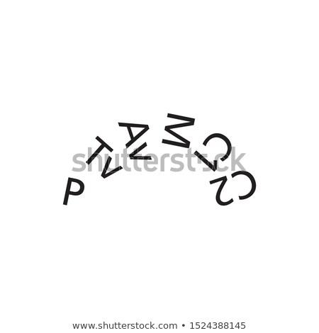Kamera çekim harfler daire yalıtılmış beyaz Stok fotoğraf © kyryloff