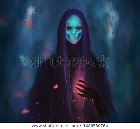 donkere · demonisch · oude · koning · duisternis · metaal - stockfoto © ensiferrum