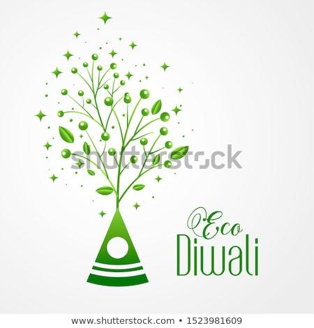 Stock photo: Happy Diwali Eco Friendly Festival Diya Concept Background