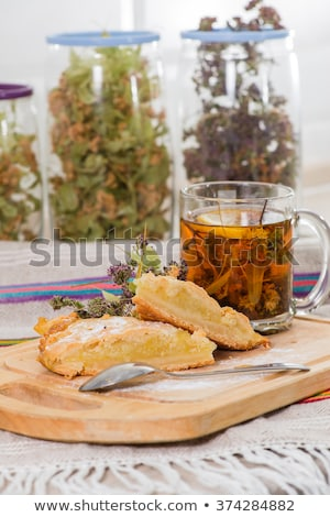 lemon anise herbal tea   shallow dof stock photo © danielgilbey