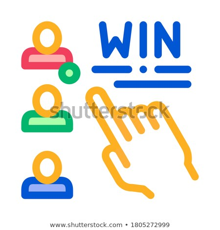 Choose Winner Betting And Gambling Icon Vector Illustration Stock photo © pikepicture