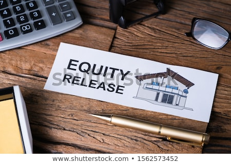 Equity Release Text On Paper Near Office Supplies Stock photo © AndreyPopov