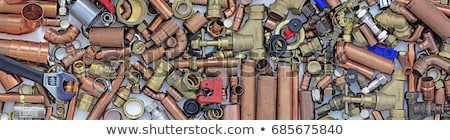 Plomberie tuyaux crayon documentation affaires Photo stock © nomadsoul1