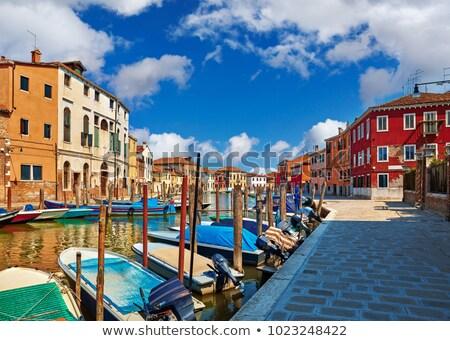 канал Венеция Италия старый город древних зданий Сток-фото © ShustrikS