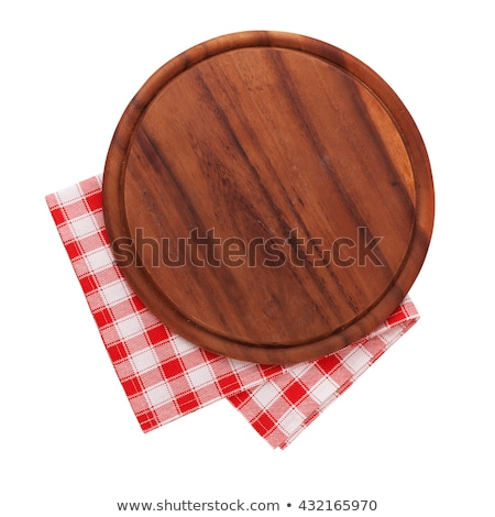 Rustic wooden cutting board or serving tray Stock photo © Digifoodstock