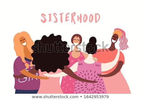 Feliz día de la mujer dibujado a mano Cartoon garabatos ilustración Foto stock © balabolka