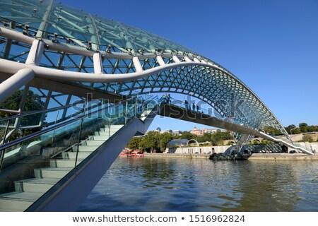 Río Georgia panorámica vista puente paz Foto stock © borisb17
