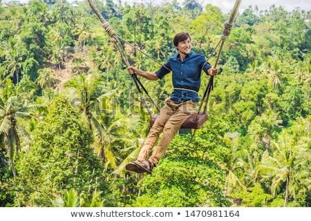 молодым человеком джунгли леса Бали острове Индонезия Сток-фото © galitskaya