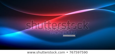 Abstrato vermelho partícula linhas trilha projeto Foto stock © SArts
