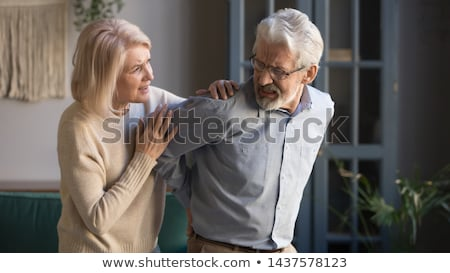 Back of man with spinal nerve problem Stock photo © bluering