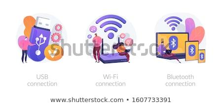 Bluetooth conexão pessoas de negócios dispositivos padrão dispositivo Foto stock © RAStudio