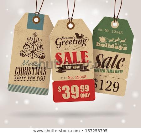 Vrolijk christmas verkoop reductie prijs bieden Stockfoto © robuart