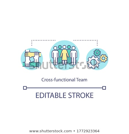 various human functions icon vector outline illustration Stock photo © pikepicture