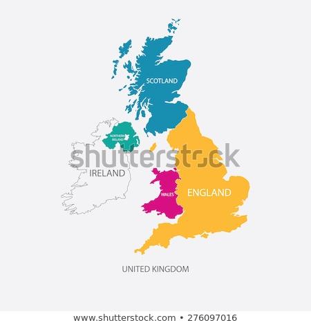 Vlag groot-brittannië icon vector schets illustratie Stockfoto © pikepicture