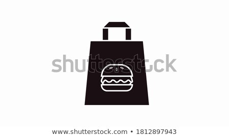 takeaway food icon vector outline illustration Stock photo © pikepicture