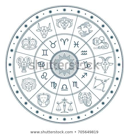 Astrologie dierenriem teken geïsoleerd cirkel Blauw Stockfoto © robuart
